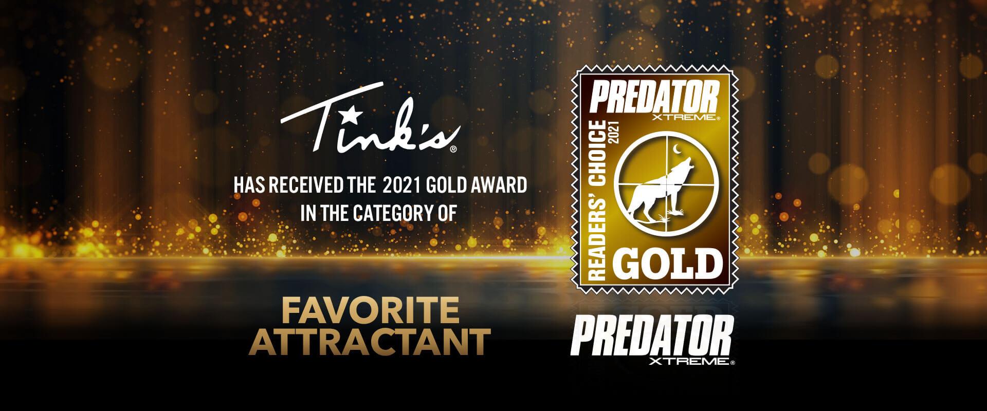 2021 Predator Xtreme Gold Award